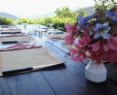 il glicine alpe selviana agriturismo tavolo esterno